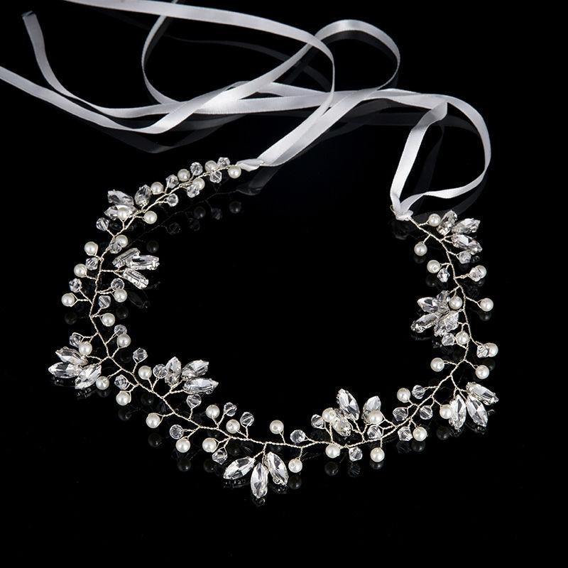 Hirband  crystal Imitation Pearl (3)