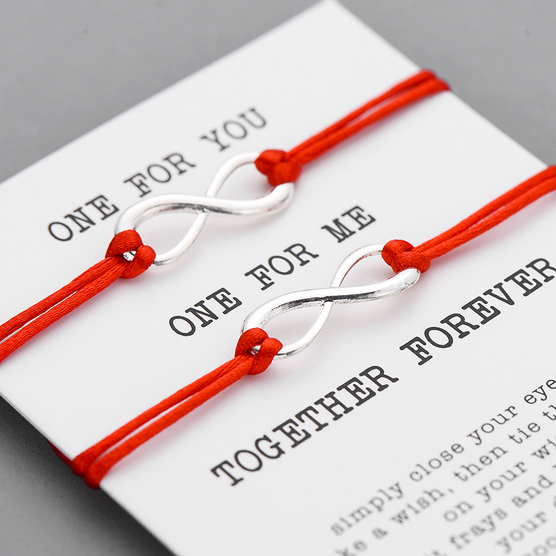 Together Forever Matching Infinity Love Bracelets
