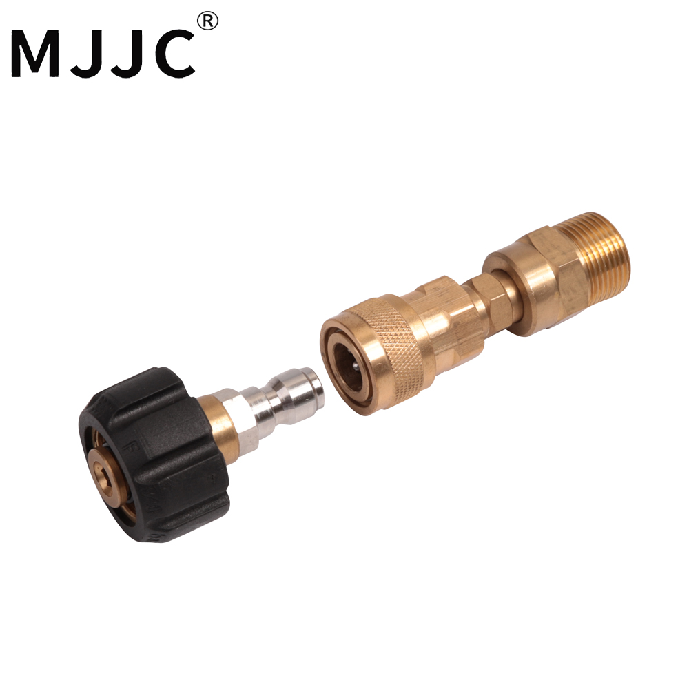 MJJC Brand with High Quality M22 thread connection to quick release connection for foam lance and pressure washer mjjc brand foam lance for karcher 5 units package free shipping 2017 with high quality automobiles accessory