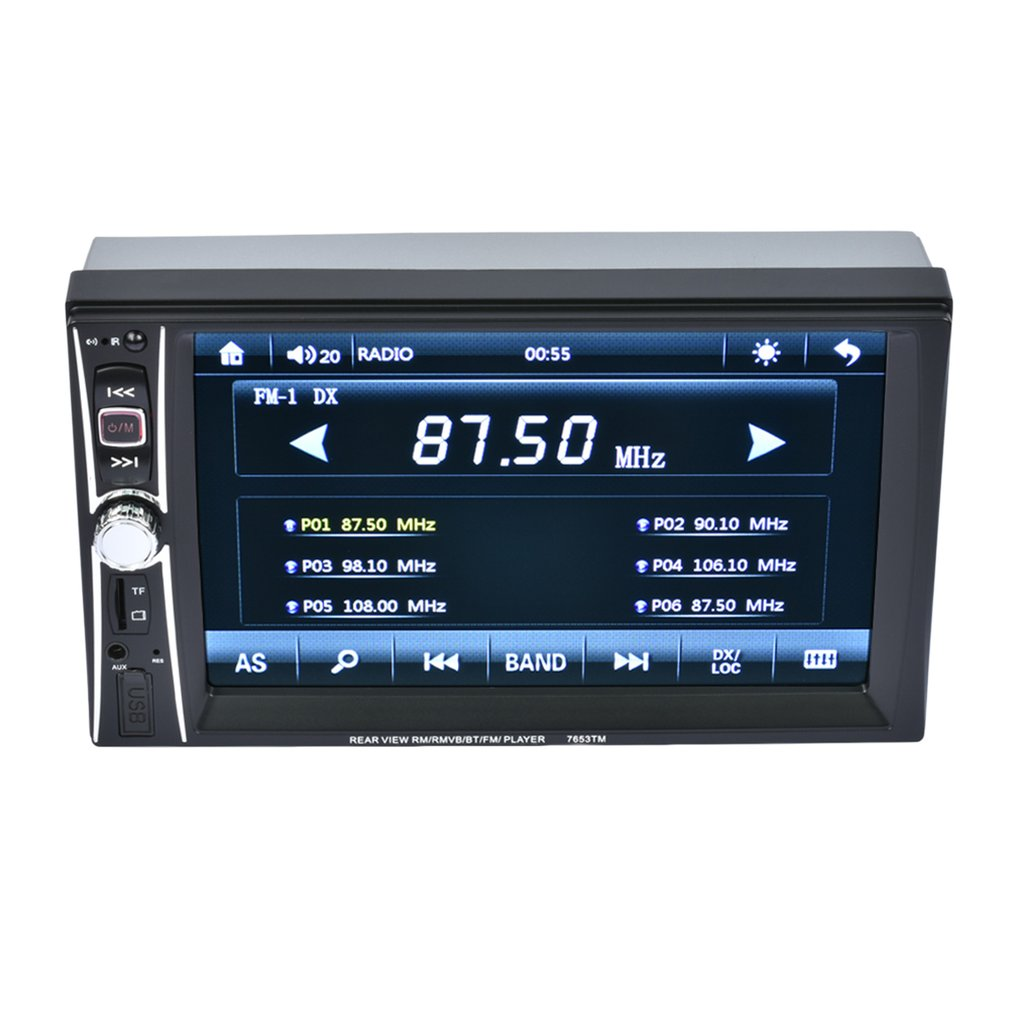 Professional Double Din Car Radio Mp5 Player 7 inch Touch Screen Bluetooth Mp5 1080P Movie Support