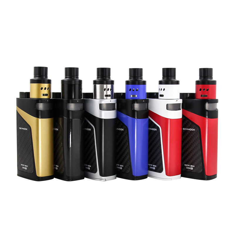 100% Original Smok Skyhook RDTA Box Kit 220w SKYHOOK BOX Mod with 9ml SMOK Skyhook RDTA Tank VS SMOK Alien 220W KIT