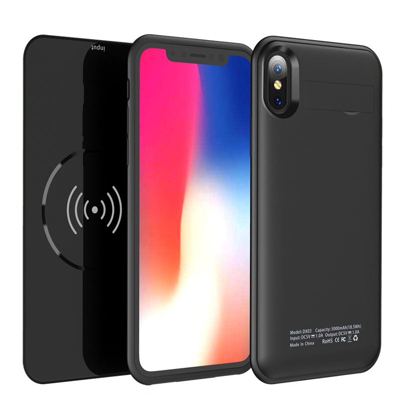 2 in 1 Style Wireless Charger Case Power Bank For iPhone X External Backup Battery Wireless Charging Pad for SAMSUNG Note 7 S9