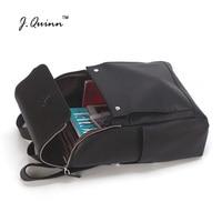 J.Quinn Women Backpack Genuine Leather Shoulder Notebook Girl Backpacks Rucksack Female Fashion Stylish Travel Bag Back Pack New