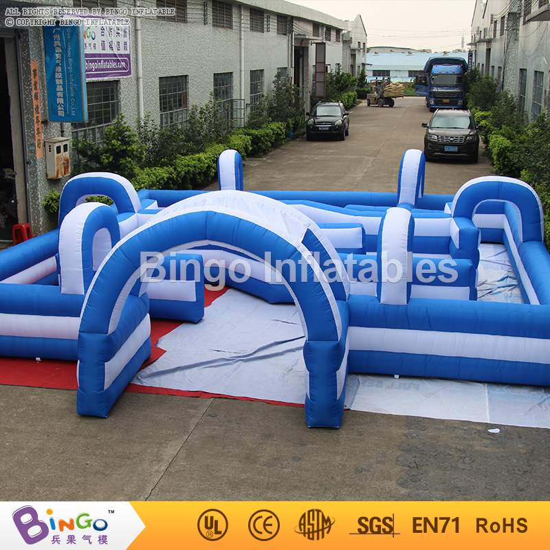 Giant Inflatable Maze 8*8M Laser Tag Inflatable Laser Maze for Kids N Baby, Inflatable Go Kart Track for Go Kark Race