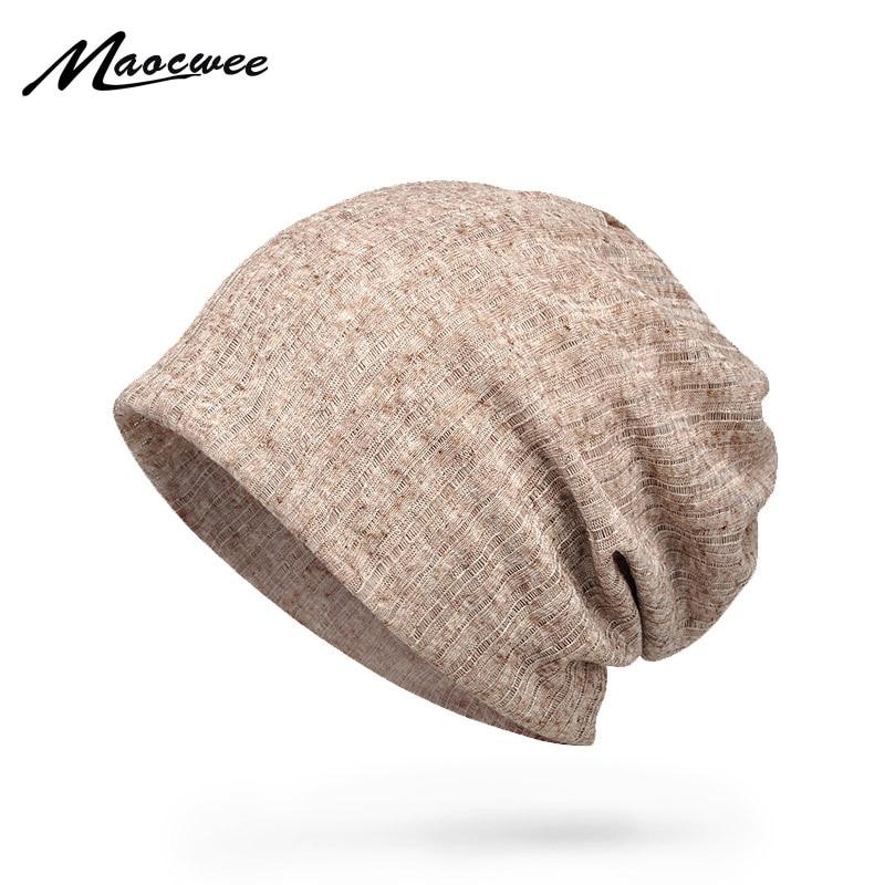 Летняя тонкая дышащая мужская и женская шапка MAOCWEE, Шапка-бини, шарф двойного назначения, модная женская повязка для волос, Солнцезащитная ш...