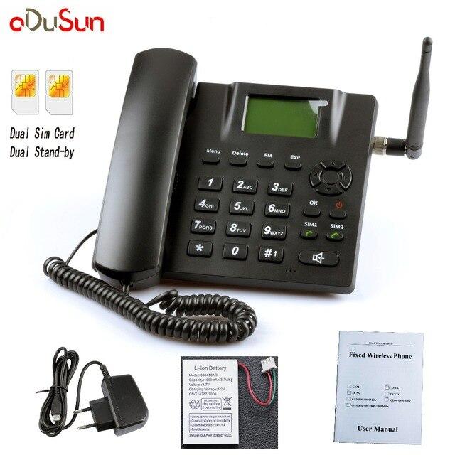 ה-sim הכפול המתנה כפולה GSM קבוע אלחוטי טלפון נעילת ה-sim ברוסית אנגלית צרפתית פורטוגזית תאילנדי ערבית איטלקי עבור בית משרד