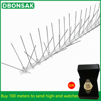 Hot Selling 5M 100M Bird Pigeon Repeller Stainless Steel Pigeon Nails Anti Bird Anti Dove Spikes Pest Control Orchard Bird