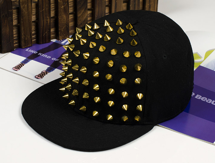 Fashion punk rivets hip hop flat along baseball caps peaked hats Snapback man women - YiWu LianJin first Store store