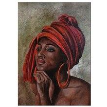 African red hat woman Full,square,resin,Diamond Embroidery sale,5D Diy Diamond Painting Cross-Stitch,5D Mosaic mazayka Z881