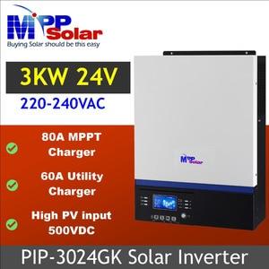 Image 1 - (GK) 3000w 24v 230vac high PV input 500vdc  + 80A MPPT solar charger + battery charger 60A + genset starter