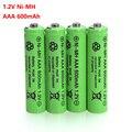 Аккумуляторные батарейки AAA 1 2 В  600 мА/ч  никель-металлогидридные аккумуляторы 1 2 В  Ni-MH  aaa для электрического пульта дистанционного управлен...