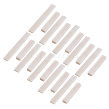 10Set Blank Bone Nut 52 x 6 x 9 Saddle 80 x 3 x 10 for Guitar Bass Replacement