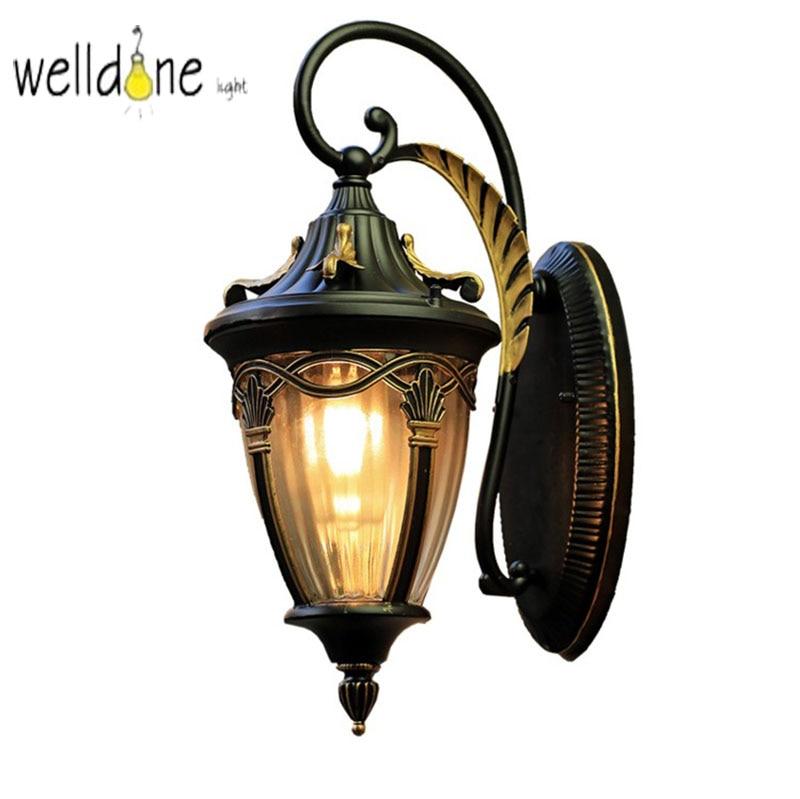 Waterproof Retro Wall Lamp 110V 220V LED Corridor Courtyard Aluminum Outdoor Wall LampWaterproof Retro Wall Lamp 110V 220V LED Corridor Courtyard Aluminum Outdoor Wall Lamp