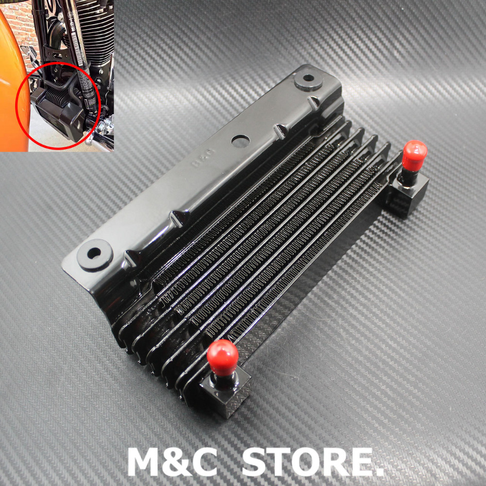 Oil Cooler Device Cooling Radiator Fit For Harley Touring Road King Road Glide