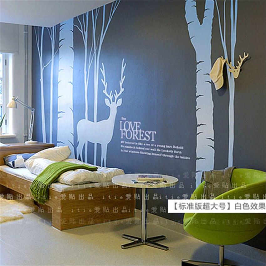 Décoration de noël pour la maison chambre salon hôtel Show Room décoration forêt arbre hiver renne Stickers muraux sticker mural