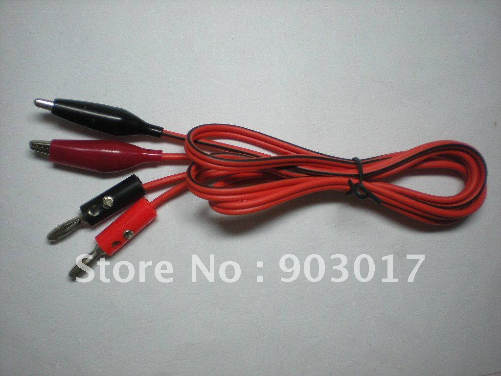 Test Lead Alligator Clip to Banana Plug 100cm Red & Black + type 90 ...