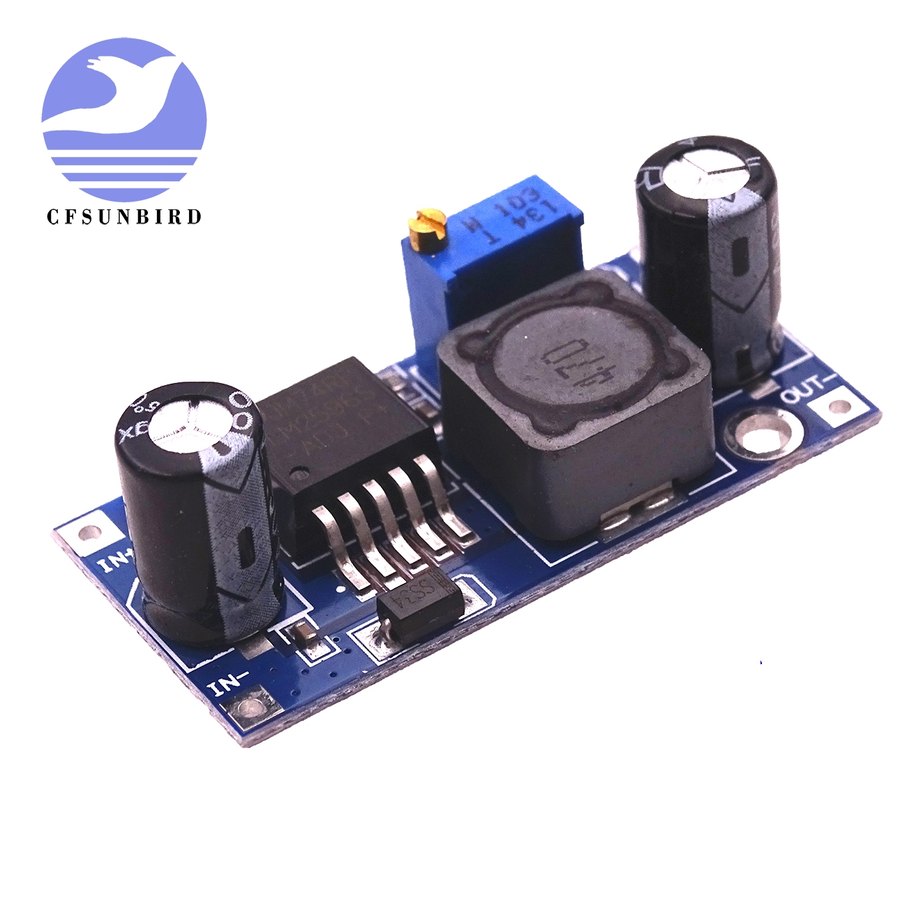 100pcs lot LM2596 LM2596S DC DC adjustable step down power Supply module NEW High Quality