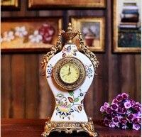 guci high grade cracked ceramic clock bell home living room bedroom alarm clock European retro bell crafts Decoration
