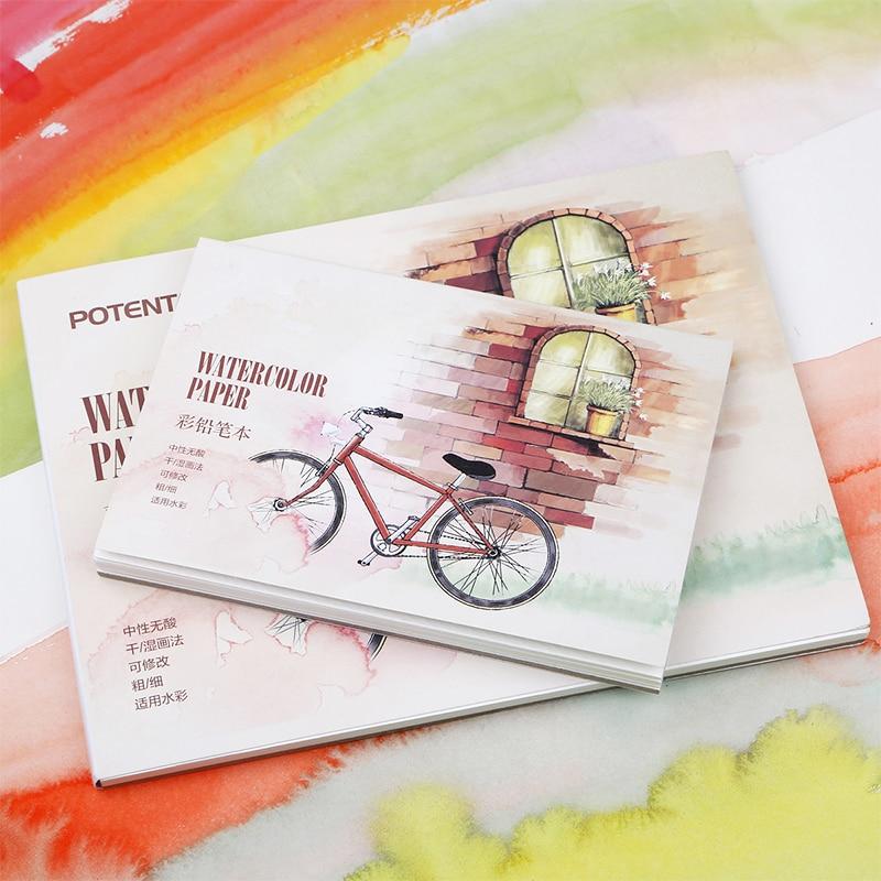 Kunst Professionelle Farbe Bleistift Buch Aquarell Papier Malbuch Für Kunst Designer Student Malerei Zeichnung skizze Buch