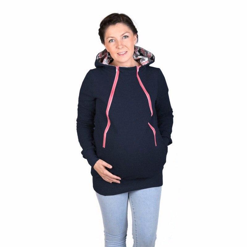 38796dbf00a9 2017 Grossesse Portage Manteau Femmes porte bébé manteau Kangourou bonne  qualité Survêtement veste avec chapeau pour Les Femmes Enceintes B0079 dans  ...