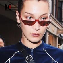 SHAUNA Fashion Women Small Rectangle Sunglasses Popular Men Yellow Tinted Lens Glasses UV400