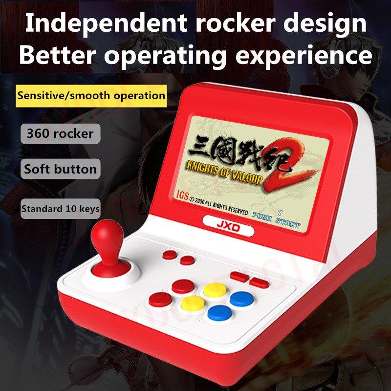 New JXD classic Dual core Big rocker retro mini arcade console build in 9000 game arcade neogeo cp1 cp2 gbc gb sens nes smd mp3 in Handheld Game Players from Consumer Electronics