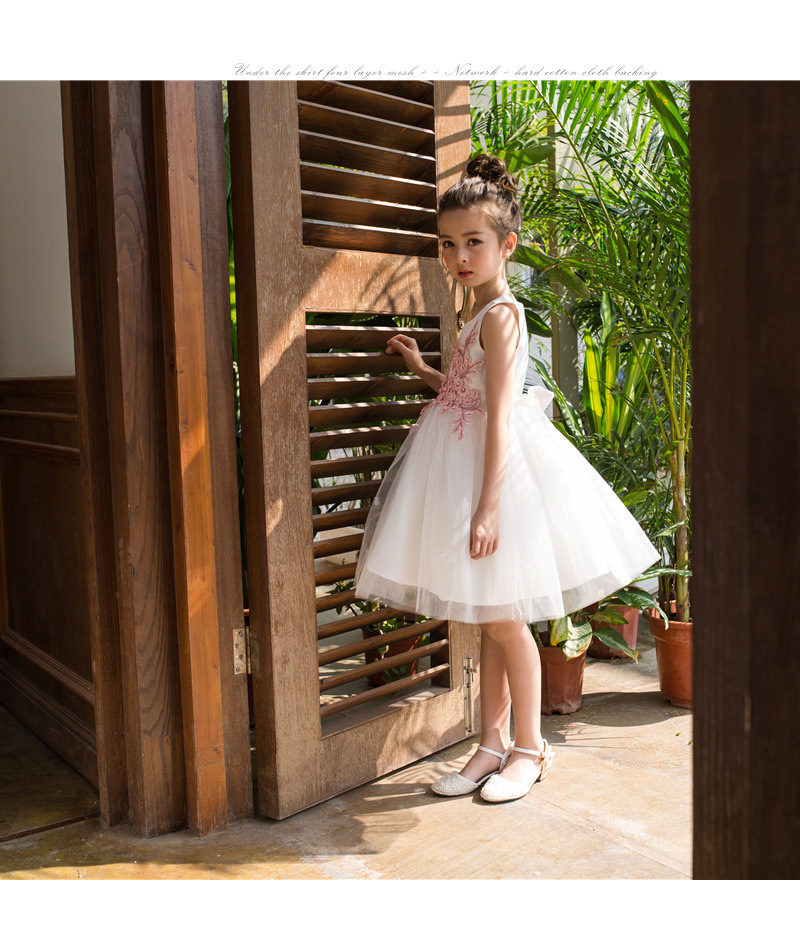 A-Line Flower Girl Dresses For Wedding Sleeveless First Communion Dresses for Girls Knee-Length Girls Dresses for Party Gown new summer style girls dresses fashion knee length beach dresses for girls sleeveless bohemian children sundress girls yellow 3t