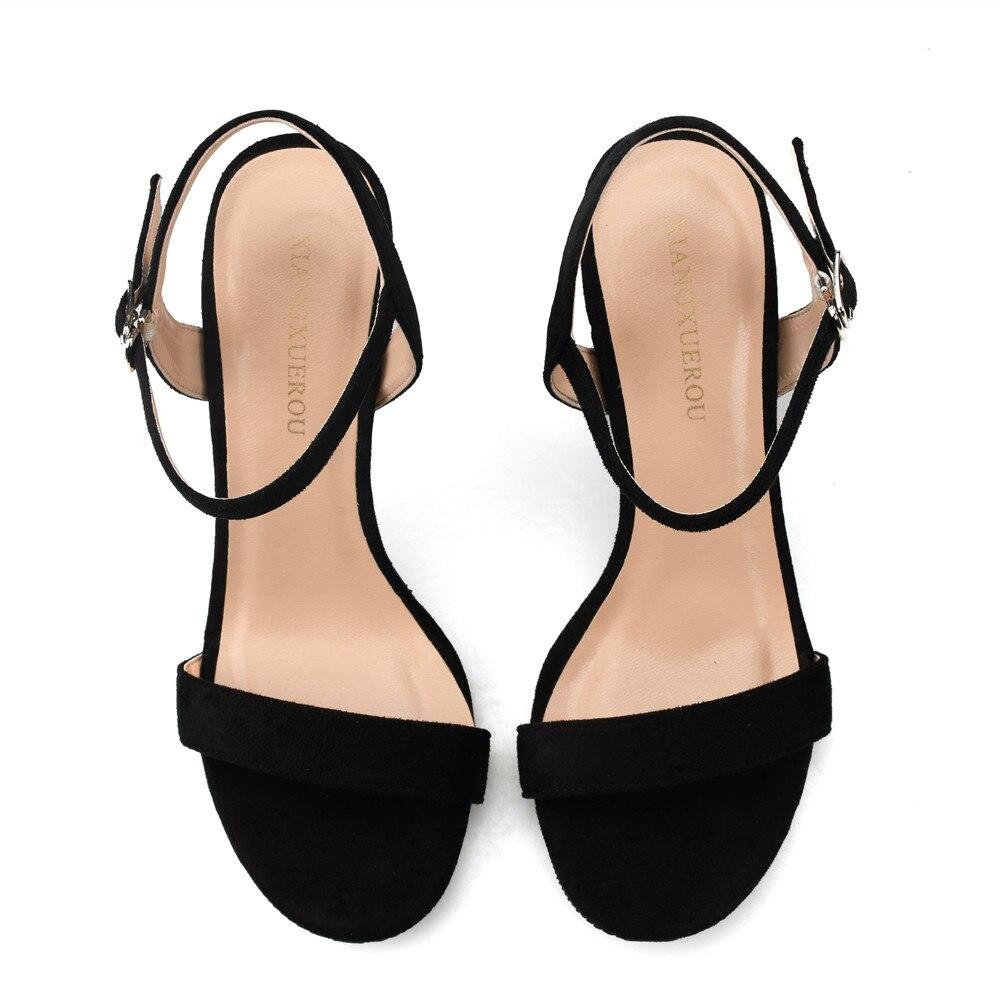 Xiangxuerou 2018 Knöchelriemen Fersen Frauen Sandalen Sommer Schuhe - Damenschuhe - Foto 4