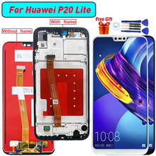 For Huawei P20 Lite LCD Display+Touch Screen Digitizer Assembly With Frame Replacement for Huawei Nova 3E ANE LX1 LX3 L23 L03(China)