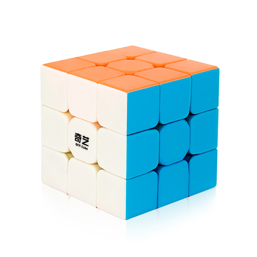 Qiyi Warrior W 3x3x3 Speed Cube Stickerless Professional Magic Cube Puzzles Colorful Educational Toys For Children(China)