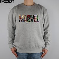 MARVEL All LOGOS Movies men Sweatshirts Thick Combed Cotton