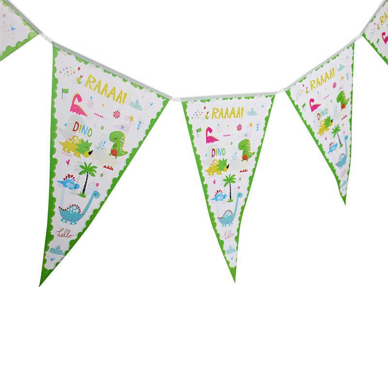 Tema dinossauro Talheres Copos placa de Decoração da Festa de Aniversário Crianças chapéus De Palha Bandeira Toalha de Mesa Balão Fontes Do Partido