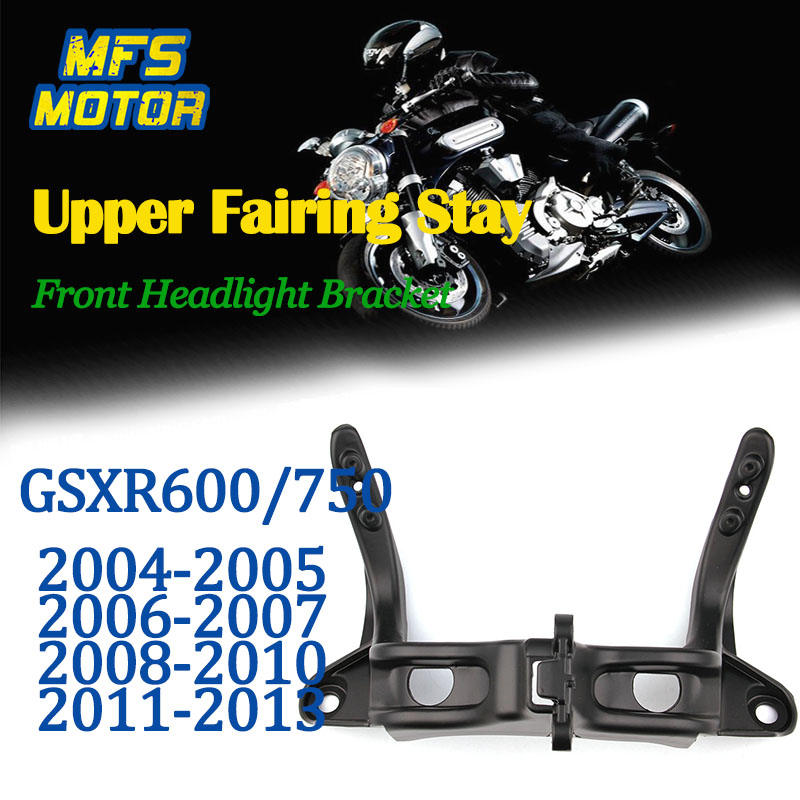 For 04-13 Suzuki GSXR600 GSXR750 GSXR GSX-R 600 750 Upper Fairing Stay Front headlight Bracket 2004 2005 2006 2007 2008-2013 front upper fairing cowling headlight headlamp stay bracket for suzuki gsxr600 gsxr750 gsxr 600 750 k1 k2 k3 2000 2001 2002 2003