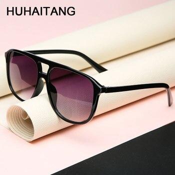 HUHAITANG Square Oversized Sunglass Mens Vintage High Quality Men Sunglasses Women Luxury Brand Designer Outdoor Sun Glasses Man