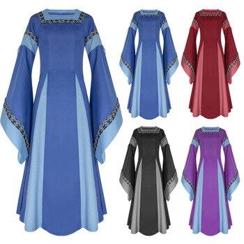 Jeanne Delcour- El alba de Sathrak Mujeres-adultas-traje-Medieval-vestido-largo-vestido-victoriano-azul-Bell-manga-cuadrado-Collar-volver-cord%C3%B3n-ropa.jpg_350x350