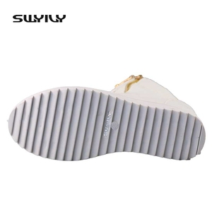Image 4 - SWYIVY Women Sneaker White High Top Canvas Shoes Wedge Platform Sneakers Women Winter/summer Sneakers Wedge Shoes For Woman