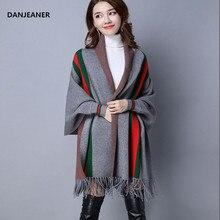 Batwing คลาสสิกสไตล์อังกฤษลายถักเสื้อกันหนาวผู้หญิง Streetwear ฤดูหนาวแคชเมียร์พู่กัน