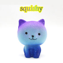 Jumbo Galaxy Cute Kitten Squishies Slow Rising Kids Toys Doll Stress Relief Toy anti stress toy Squeeze toy skvishi bear(China)