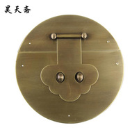 [Haotian vegetarian] Ming and Qing antique copper handle pure copper fittings copper box buckle lock boxes HTN 084 thicker secti