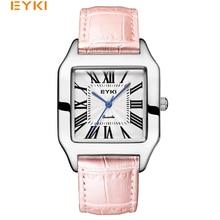 EYKI Women's Leather Watches Classic Design Rectangular Femal Waterproof