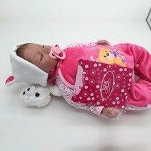 22inch Handmade Soft Silicone Reborn Dolls Toys 55cm Lifelike Realistic Baby Newborn Babies Doll Toys For Kids Birthday Gift