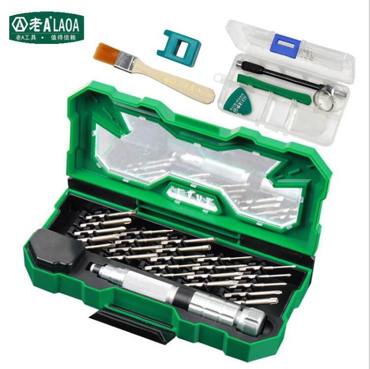 laoa 25 in 1 profession screwdriver sets high quality s2 alloy steel repair kit precision tools. Black Bedroom Furniture Sets. Home Design Ideas
