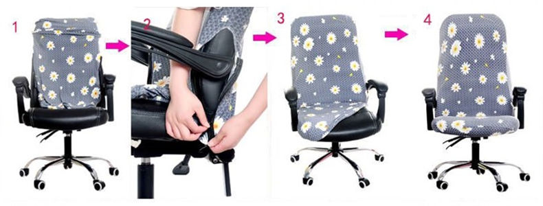 Office Stretch Spandex Chair Cover 4