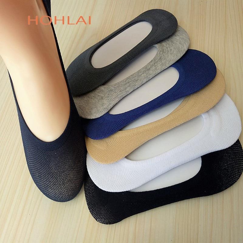 10Pair Fashion Unisex Women Men Loafer Boat Non-Slip Invisible No Show Nonslip Liner Low Cut Soft Breathable Cotton Short   Socks
