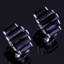 Perfect Black Cubic Zirconia 925 Sterling Silver Clip Hoop Huggie Earrings For Women V0933