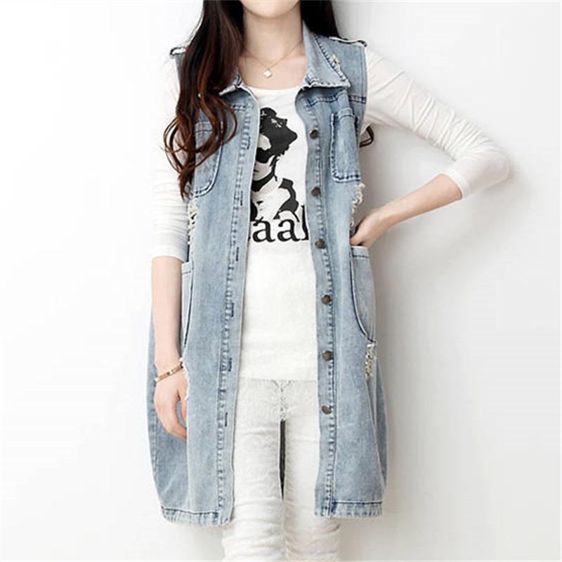Veste en jean femme style