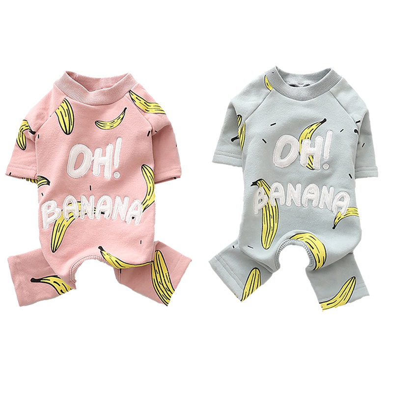 Baumwolle Pet Overall Banana Katze Pet Kleidung Für Hunde Pyjamas Herbst Winter Haustiere Hunde Kleidung S-3XL Hund Kleidung Für Hund chihuahua