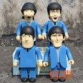 """4 unids/set 11 """" 28 cm 400% bearbrick los Beatles Medicom juguete de regalo moda para los amigos decoración del hogar Art Work"""