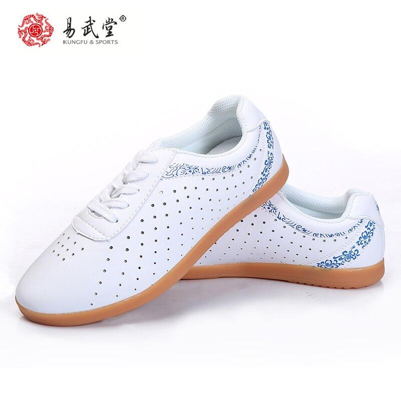 Yiwutang Боевые искусства кунг-фу кожаные туфли Тай Чи таолу дырки обувь ушу дышащая обувь резиновая подошва для мужчин и женщин Лето