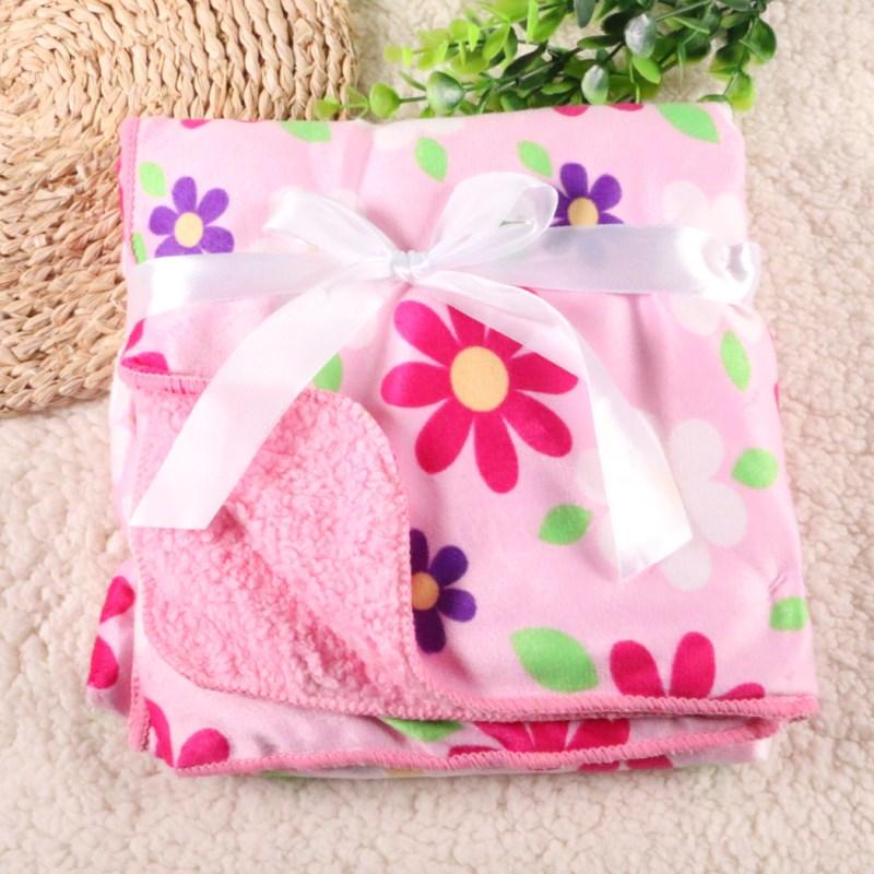 2018 new design Baby Blanket 76*100 Cm Children Warm Fleece Blanket On Bed Soft Plaid Throw Blanket etrq0003
